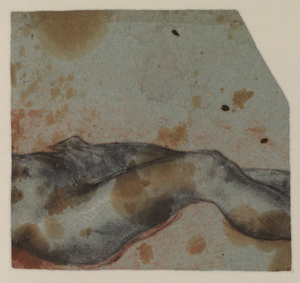 Study of a crucified Christ (lower part, possibly cut) (verso)