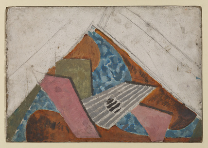 Design for painted harpsicord lid (recto)