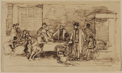 Study for 'Distraining for rent' (Viscount Swinton collection)