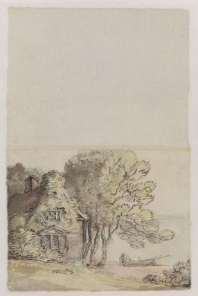 Cottage at the water's edge (verso)