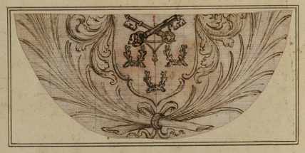 Design for an unidentified coat-of-arms by Italian School