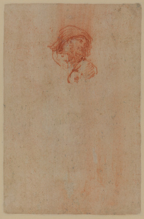 Study of male head (verso)