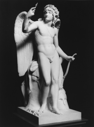 Cupid Triumphant Examining the Joint of His Arrow