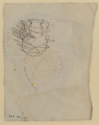 Design for decorated ceramic flask (verso)