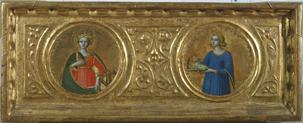 Saint Catherine of Alexandria and Saint Agnes (right panel)