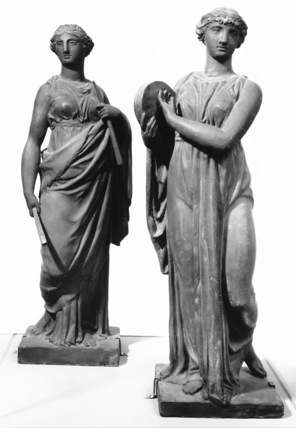 The Muses Euterpe and Terpsichore