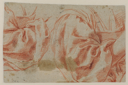 Two drapery studies (verso)