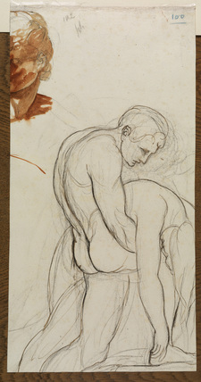 Study of nude male carrying a woman