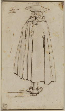 Standing man, viewed from behind (verso)