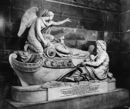 St Paul's Cathedral;Monument to Lord Collingwood by Wren, Christopher at The Courtauld Institute