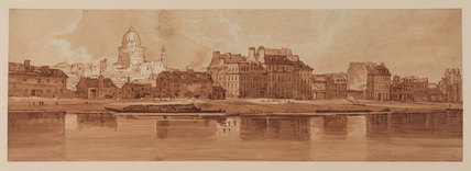 View of Paris and the Seine from the Arsenal