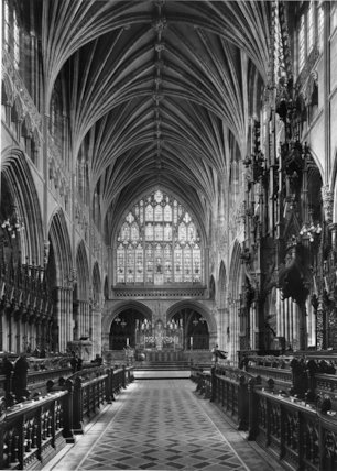 The Choir, facing east, Exeter Cathedral, Devon
