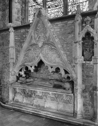 A canopied tomb at the west end of the north aisle, Winchelsea Church, Sussex