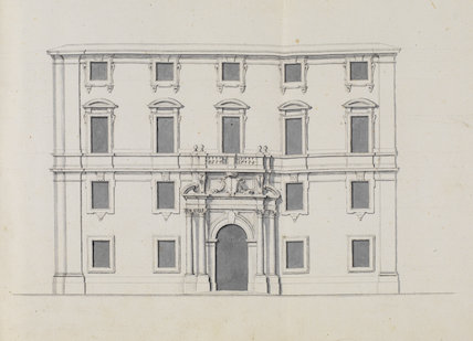 Front elevation of a palace displaying the coat of arms of Grand Master Antonio Manoel de Vilhena (1722-1736)