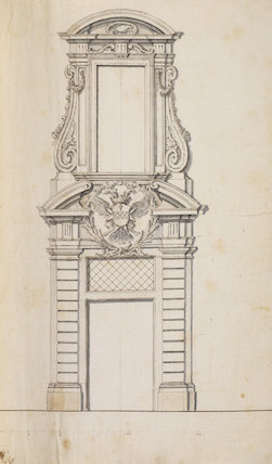 Design of the portal of Spinola palace in Valletta, Malta