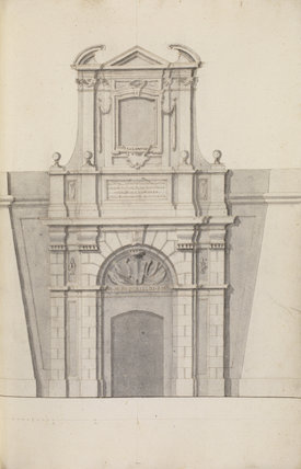 Front elevation of a military gateway VII