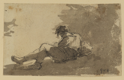 Reclining figure of a young man