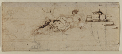 Sketches of the head of a man (verso)