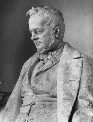 Plaster model of Camillo Cavour