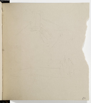 Page of a sketchbook, p.39