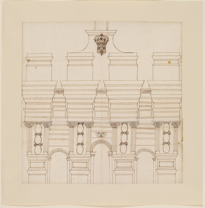 Architectural drawing of one of the gates of Paris