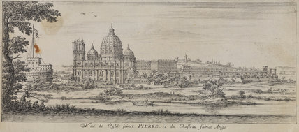 View of Saint Peter's and the Castello Saint Angelo, Rome
