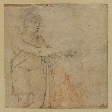 Study of a classical figure (verso)