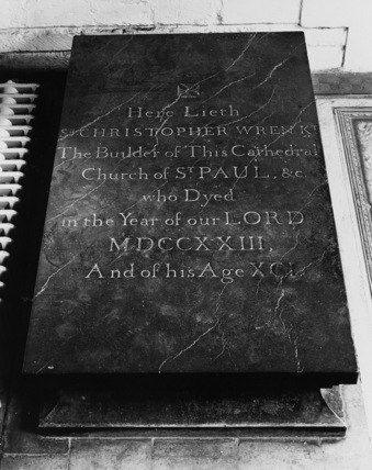 St Paul's Cathedral;The Crypt;Tomb of Christopher Wren