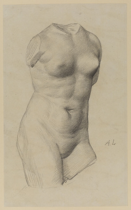 Female torso - study from sculpture