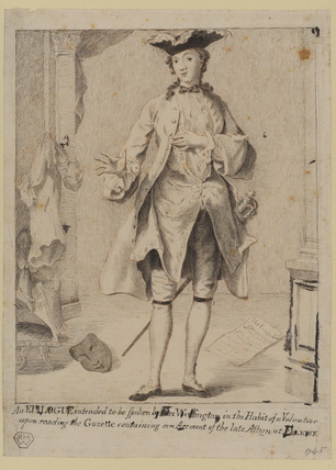 Peg Woffington in the costume of a male volunteer