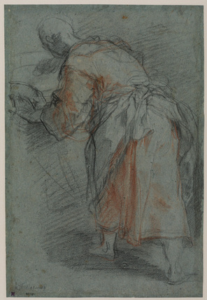 Study for the Doctor in 'The Circumcision' (1590, Louvre) (recto)