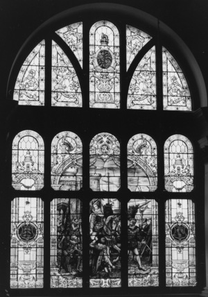 Stained glass window, Queen Elizabeth at Tilbury