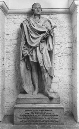 St Paul's Cathedral;The Crypt;Statue of Adam Lord, Viscount Duncan