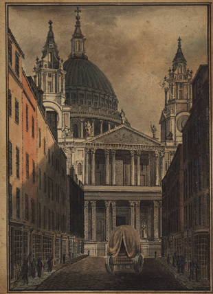 Saint Paul's, London, seen from Ludgate Hill