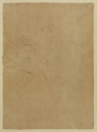 Study of a male torso (upper half) (verso)