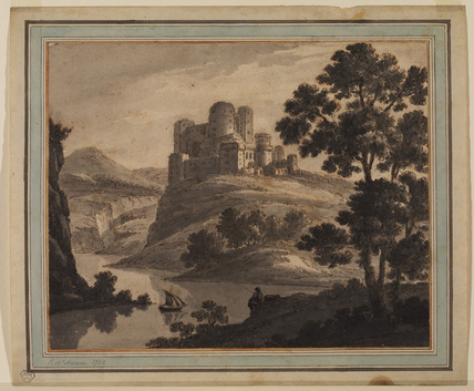 Landscape with river and castle