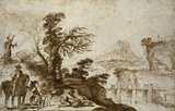 Landscape with a Horseman and a Bridge