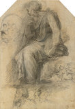 A male Saint, seated (Study for the Disputa)
