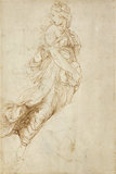 Recto: Study for the Figure of Melpomene