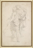 Two Figures standing on a Flight of Steps, after Raphael