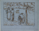 Compositional Study of four Female Peasants working in an Orchard