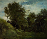Landscape with Figures seated on a Bank