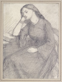 Portrait of Elizabeth Siddal, seated