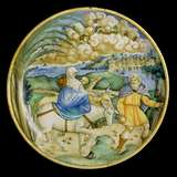 Dish with the Flight into Egypt