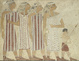 Copy of wall painting, private tomb 3 of Khnumhotpe III, Beni Hasan, four women and boy