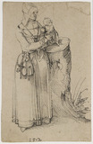 Standing Figure of a Woman holding a Child