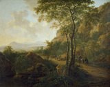 Italianate Landscape with Muleteers