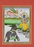 Krsna and the Elephant