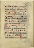 Illuminated page of Music for the Christmas Vespers