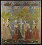 The gopis dance in the forest, or Sarat Purnima